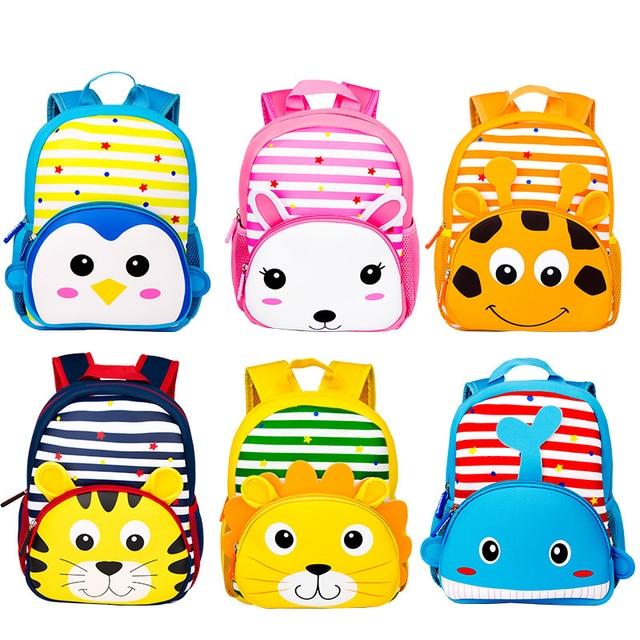 b3b0caff4fae1 جديد لطيف الاطفال طفل الحقائب المدرسية على ظهره الأطفال رياض الأطفال  المدرسية 3D الكرتون الحيوان حقيبة