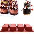 1 Pc 8 Furos Redondos Forma Molde Do Bolo Do Silicone Handmade 3D queque de mini muffin de bolinho pudim de geléia sabão molde diy ferramentas de cozimento