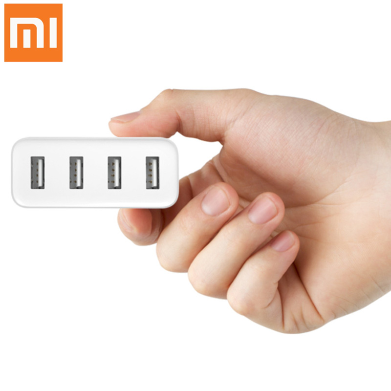 New Original XiaoMi Mi Portable 4 Ports 35W 2A Fast USB Ports Charger for iPhone Sansung all 5V Charging Device
