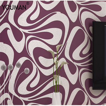 Heat Resistant Materials | Wallpaper Youman Modern Minimalist Curve Strips Deerskin Personality Fashion 3D Thick Waterproof Ripples Living Room  Wallpaper