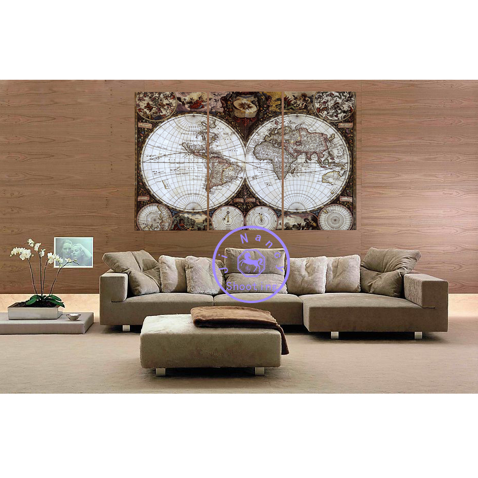 Mysterious Earth Classic style home decoration diy diamond painting 3pcs/set resin square drill full diamond embroidery triptych