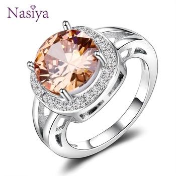 925 Jewelry Round Natural Gemstone Ring
