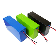 Opakowanie na baterie litowe 13S6P 48V 20Ah obudowa baterii litowo jonowej + uchwyt + nikiel + 13S 20A BMS na akumulator 18650