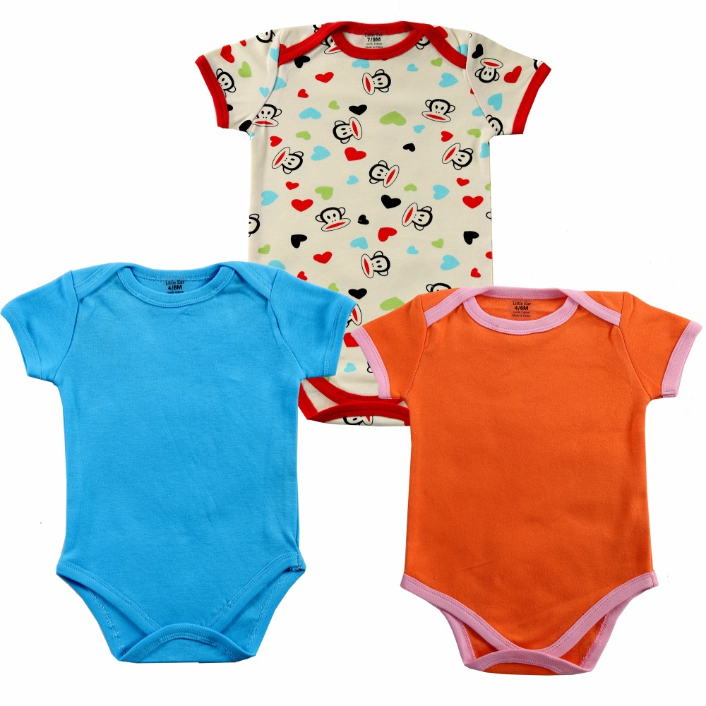 3pc/lot Baby Rompers Newborn Baby Boy Girls Clothes Short Sleeve Baby Clothing Girl Roupa Infantil Body Bebes Next Jumpsuit unisex baby rompers cotton cartoon boys girls roupa infantil winter clothing newborn baby rompers overalls body for clothes