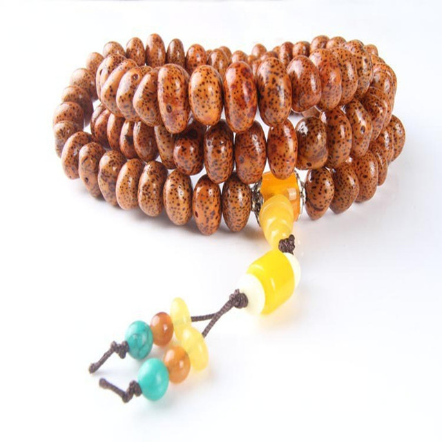 Ubeauty New arrival natural 108 xingyue bodhi seeds Tibetan Buddhist mala prayer beads bracelet necklace for Meditation