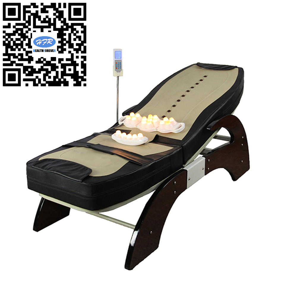 HFR-168-1F-1 Migun Hot Heated Portable Korea Cheap Nuga Best Warm LCD Automatic Electric Rolling Thermal Jade Stone Massage Bed