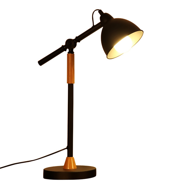 Led Lamp Student Desk Creative Long Arm Wrought Iron Office Bedroom Study Room Dining