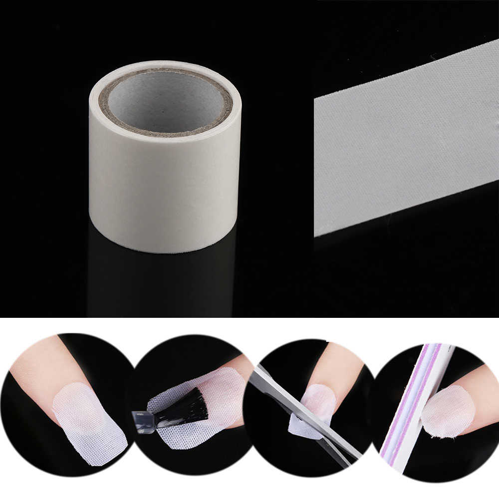 Nail Repair Fiberglass Silk Wrap Self Adhesive Anti Damage DIY Strong Protect Reinforce Extension Sticker For Broken Manicure