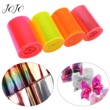JOJO BOWS 75mm 2y PVC Transparent Ribbon For Crafts Solid Tape DIY Hair Bows Home Decoration Textile Sewing Materials