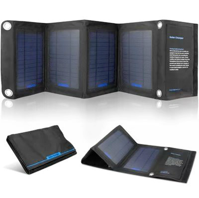 14W Foldable Solar Cells Charger Backpack Solar Panel Charger with Dual USB for Mobile Phone Solar Battery 14w solar charger dual usb output solar cell solar panel 12v ourdoor camping charger for laptop bluetooth headset ipod and more