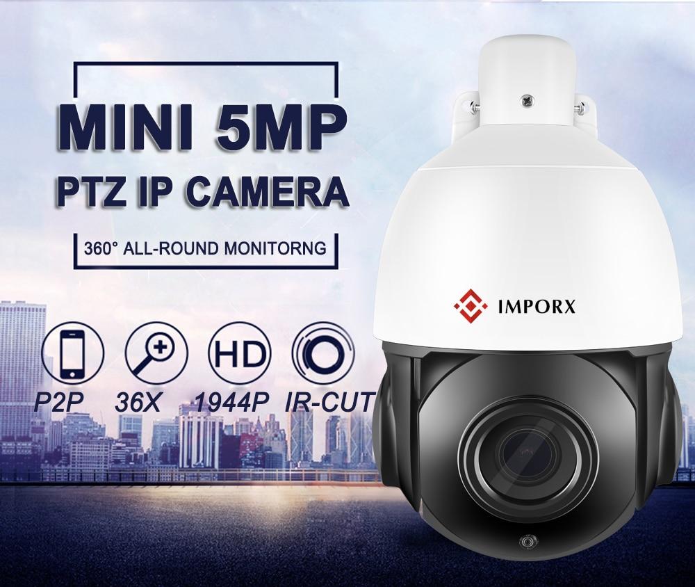 POE PTZ Camera 4MP 5inch Mini Size Network Onvif ptz ip 30x zoom ptz ip camera with 60m IR for Free Shipping
