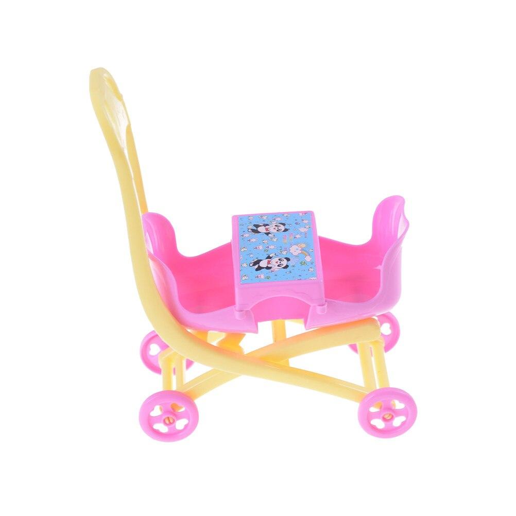 1 шт. коляска Двухместный коляски Аксессуары для Барби Келли куклы игровой дом игрушки 16*14*7 см