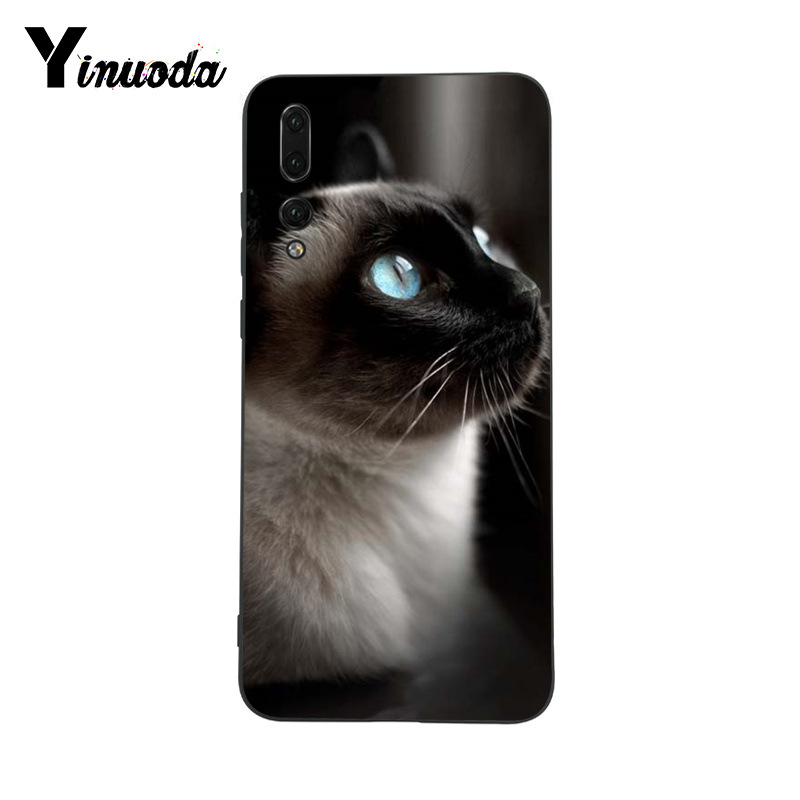 premium selection 42a7e 459ea US $0.5 50% OFF|Yinuoda Blue dot The Traditional Siamese Cat Phone case for  Huawei P9 P10 Plus Mate9 10 Mate10 Lite P20 Pro Honor10 View10-in ...