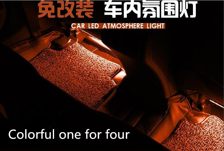 Car interior. LED dimming lamp accessories. for Peugeot 206 207 208 301 307 308 407 2008 3008 4008 for BMW TOYOTA AUDI sticker