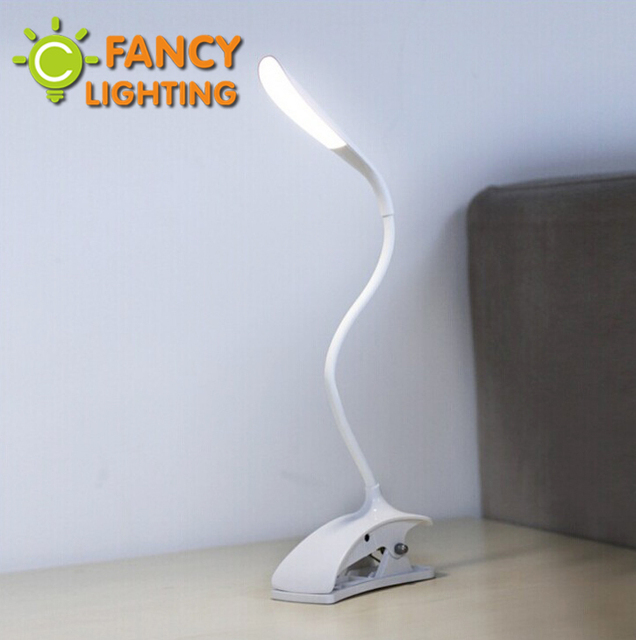Led Table Lamps Adjustable Brightness USB Rechargeable Portable Touch Switch Spring Clip Flexible Bedroom Reading Desk