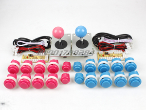 Arcade DIY Kit Parts USB Encoder To PC 2x Joystick 20x Push Button For Arcade MAME>
