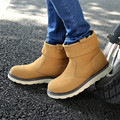 Winter Men Genuine Leather Warm Snow Boots Casual With Short Plush Ankle Boots Height Increasing Rubber Zip Men Shoes