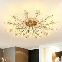 Chandelier Modern Crystal Decoration Chandeliers Ceiling For Living Room Bedroom Dining Room G9 Black/Gold Iron lighting Fixture