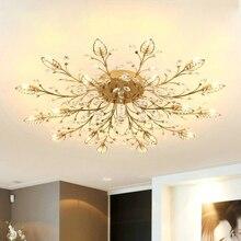 Современное Кристальное украшение люстры потолочные для Гостиная Спальня Обеденная G9 черный/золотой железная люстра светильник приспособление