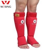 MUAY THAI BOXE Wesing muay tailandês shin caneleira e protetor do peito do pé para a competição ou treinamento, Aprovado pela IFMA
