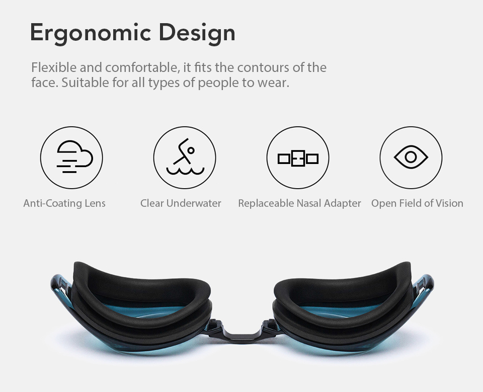Xiaomi Mijia Turok Steinhardt TS Adult Swimming Goggles Ergonomic Anti-fog Coating Lens Waterproof Swim Wide Angle Safety Goggle (2)