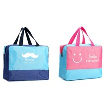 Portable Storage Bag Beach Swimming Dry And Wet Separation Waterproof Wash  Multifunctional Toiletries