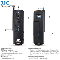 JJC JM A II Radio Frequency Wireless Shutter Release Remote Control For CANON Camera