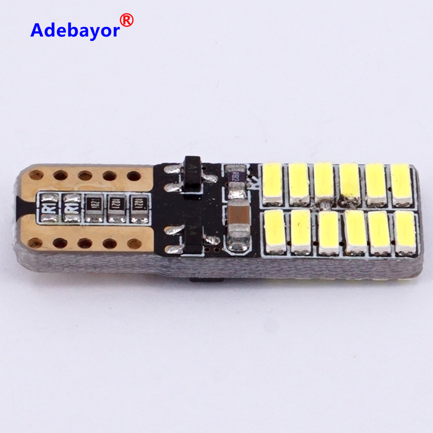 100 Xcar Auto Led T10 194 W5w Canbus 24 Smd 4014 Led Light Bulb No Error Led Parking Car Styling Lamps Car Accessories 12v 24v Led T10 T10 194canbus No Error Aliexpress