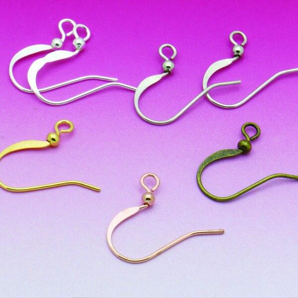 100pcs DIY Earring Findings Earrings Clasps Hooks Fittings DIY Jewelry Making Accessories Hook Earwire Jewelry