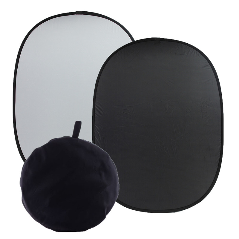 1 5x2m 59 x78 7 Background Cloth Photography Board Studio Screen Black White Durable Quality