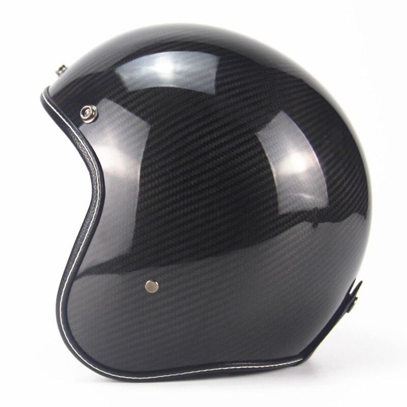Carbon Fiber 3/4 Motorcycle Chopper Bike Harley helmet open face vintage scotter jet motocross capacete cascos moto vespa