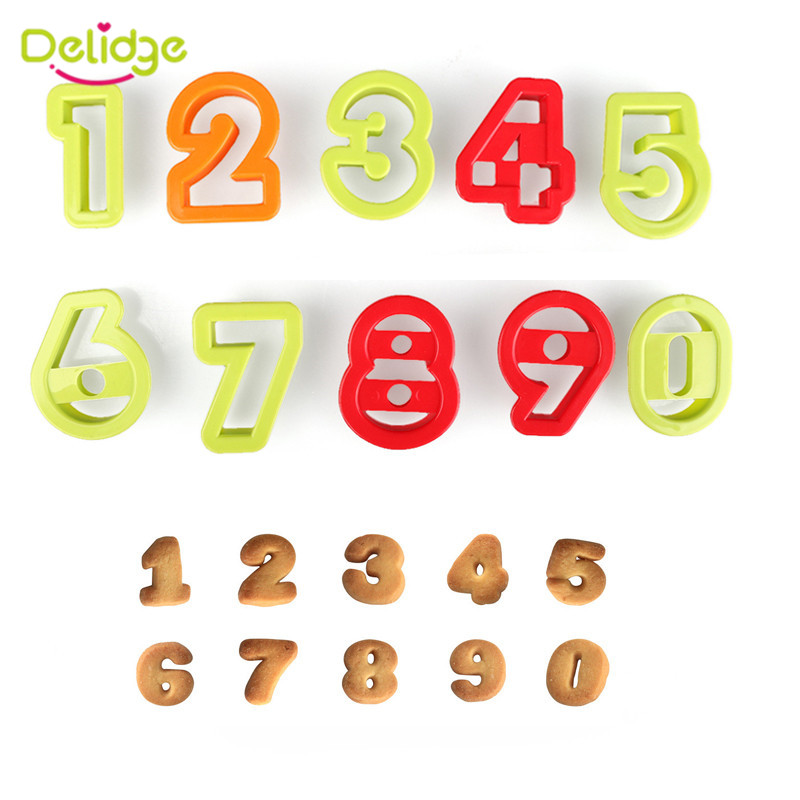 delidge number letters biscuit cutter number fondant cake cookie cutter press embosser cake mold birthday cake