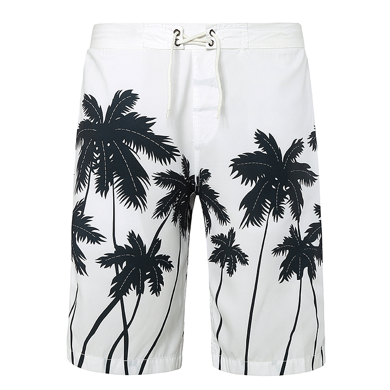 Men Beach Shorts New 2020 Hawaii Vacation Boardshort Shorts Homme Quick Drying Printing Coconut Trees Board Beach Pants
