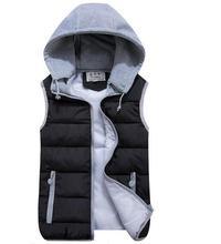 boy gilet Autumn and winter male down POLO vest waistcoat lovers design casual Cotton-padded jacket coat men outerwear vest XXXL