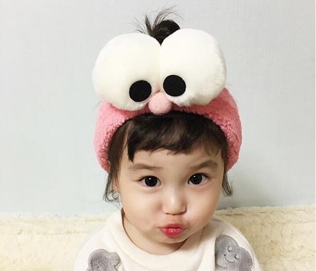 Cute Turban Korean Big Eyes Gargle Bath Headband Face Washing Hairbands SPA  Make Up Elastic Soft Headbands Hair Ornaments on Aliexpress.com  088d0233a1d