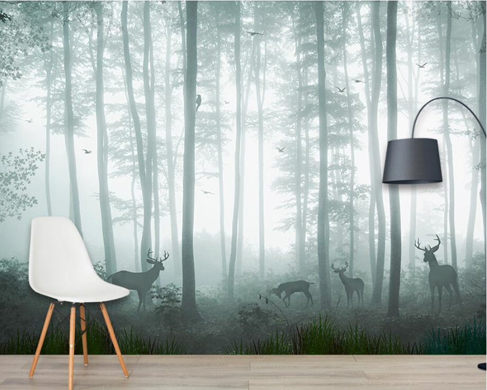 Papel de parede Dream forest deer 3d wallpaper,living room sofa TV wall kidsroom restaurant bar wall papers home decor muralsPapel de parede Dream forest deer 3d wallpaper,living room sofa TV wall kidsroom restaurant bar wall papers home decor murals