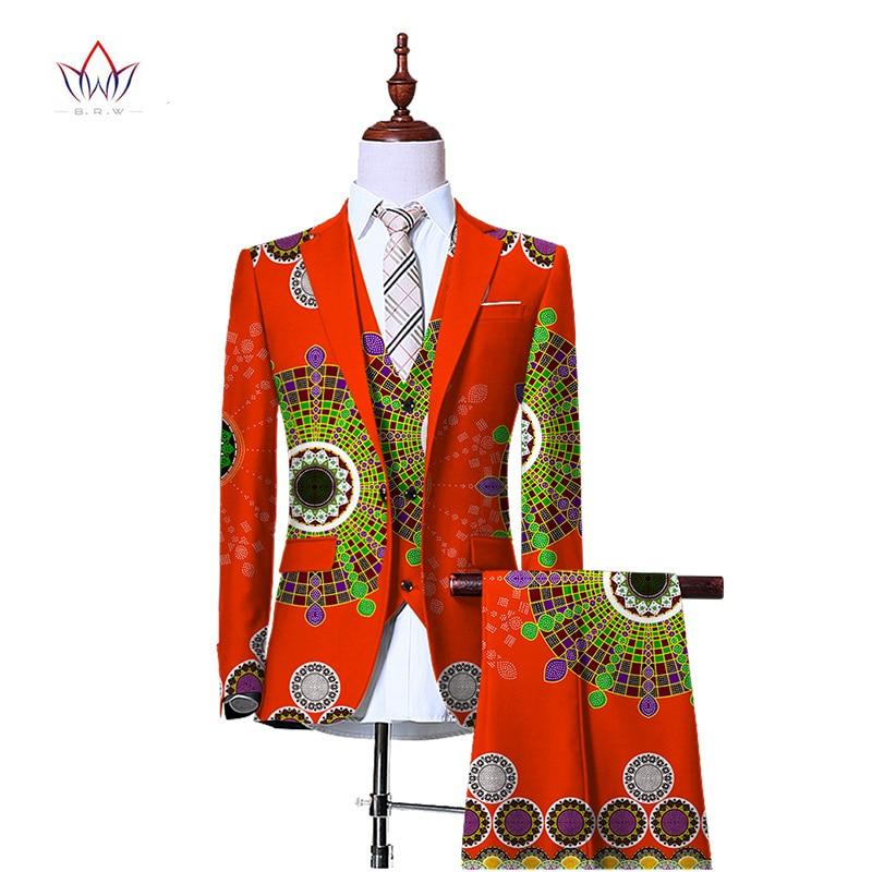 (Jacka + Vest + Byxor) Blazers for Men 3 Piece Slim Fit Cowboy - Herrkläder - Foto 3