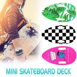 Портативный мини-скейтборд палуба DIY натуральный Скейтборд Палуба Клена деревянная палуба 3 цвета стиль ручной работы DIY скейтборд