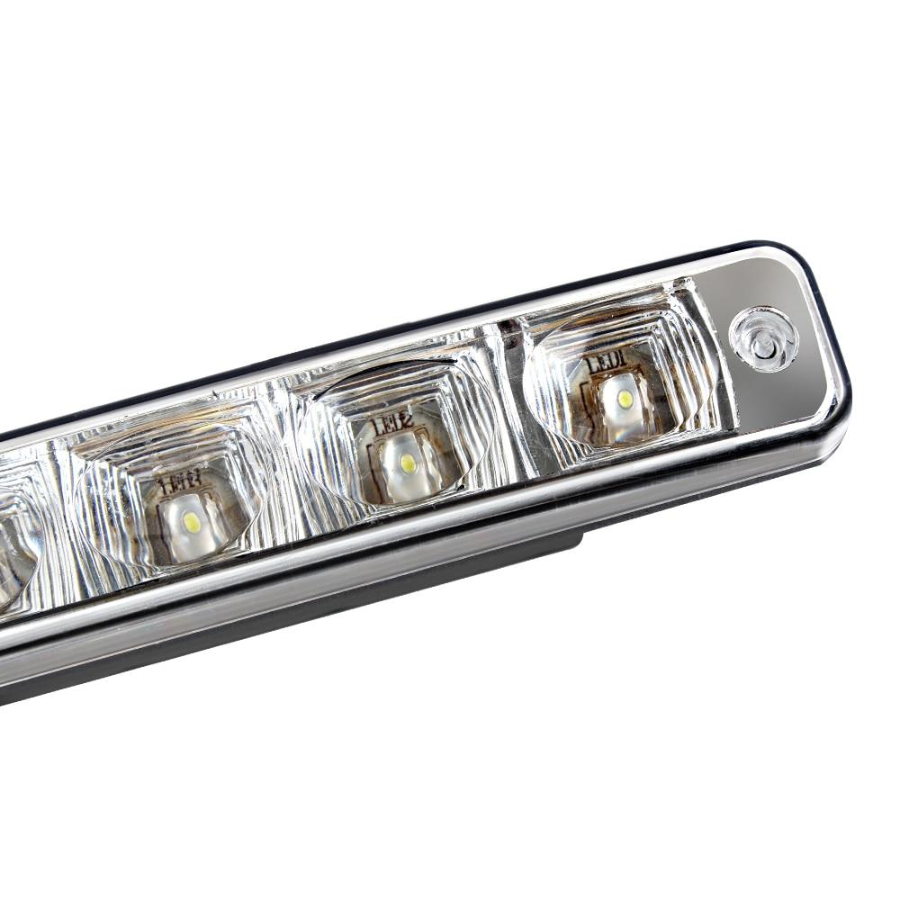 1 par LED-bil Körningsljus DRL Super Bright 5 LEDs Universal - Bilbelysning - Foto 4