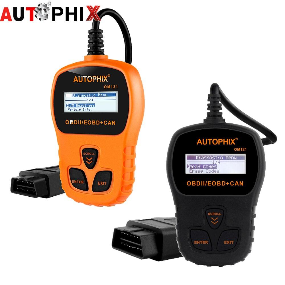 Prix pour Voiture de diagnostic scanner universel autophix obdmate om121 Anglais Espagnol Français Allemand Portugais et Russe iobd scanner de voiture
