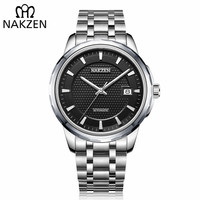 Men Classic Business Watch NAKZEN T op Brand Luxury Automatic Mechanical Watches With SEIKO NH35 Movement Stainless Steel Case