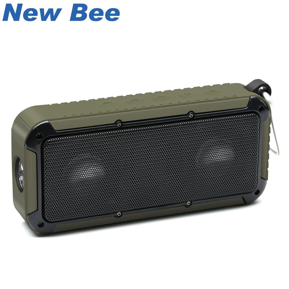 مكبرات الصوت النحلة الجديدة بلوتوث اللاسلكية المحمولة في الهواء الطلق للماء المتكلم مع ميكروفون 3.5 جاك NFC دراجات جبل الصمام مصباح يدوي هوك