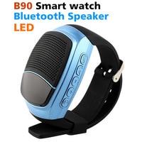 2017 Nieuwste B90 Bluetooth Smartwatch Draagbare Speaker TF FM Audio Alarm Zelf tijd Sport LED Screen Mobiele telefoon Z60 Smartwatch
