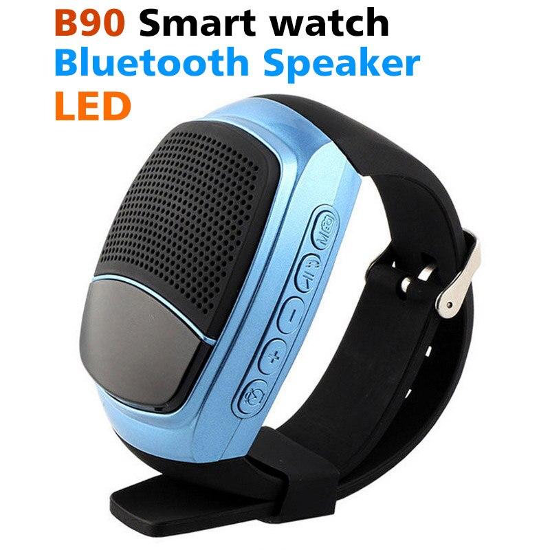 B90 Смарт часы Bluetooth спорта на открытом воздухе Динамик часы Портативный MP3 плеер TF FM радио-будильник Экран телефон Smartwatch B20 наручные