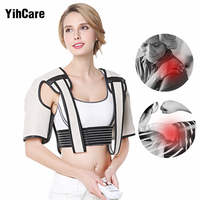 Home Remote Far Infrared Electric Back and Neck Massager Device Hot Compress Beat Heated Shiatsu Shoulder Neck Massage Equipment