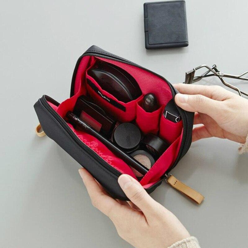 Pouch Case Makeup-Bag Toiletry-Bag Korean-Style Waterproof Women Solid 1-Pc
