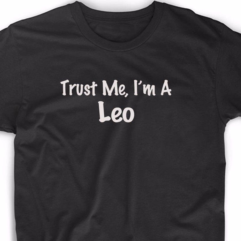 Поверьте мне, я лев футболка Астрология Знак зодиака Рождественский подарок Уникальная футболка унисекс более Размеры и Цвета 2017-a728