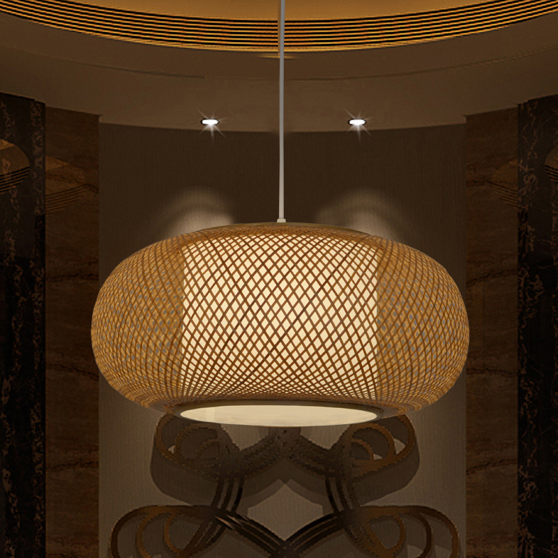 Chinese chandelier Japanese-style living room bedroom restaurant bamboo lanterns Southeast Asia tatami antique tea room box led