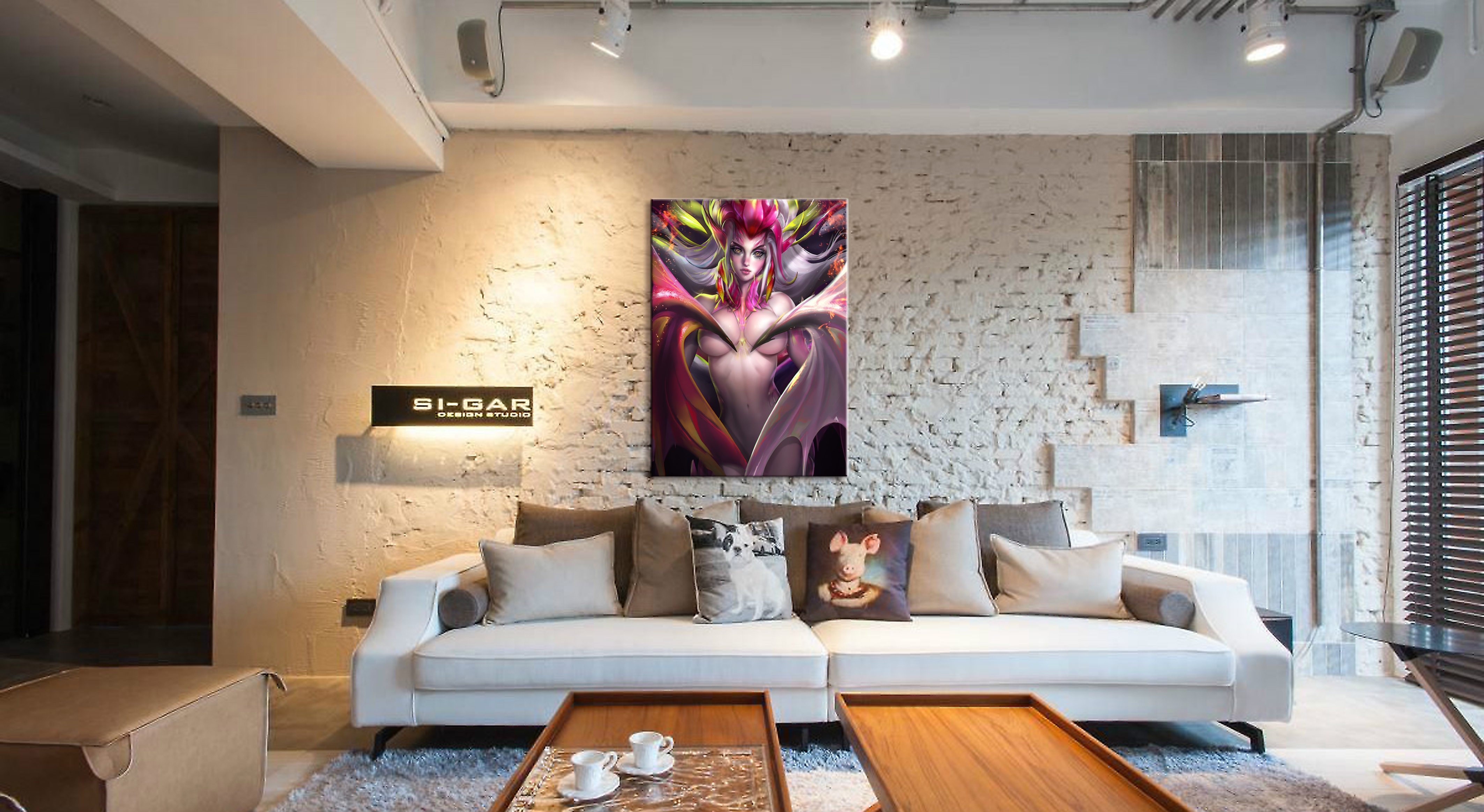 Home Decor Canvas Dragon Fruit Faerie Nude 1 Piece Anime Sexy Girl Art Poster Prints Picture Wall Decoration Painting Wholesale in Painting Calligraphy from Home Garden
