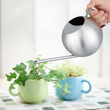 Stainless Steel Watering Can 1000mL Long Mouth Round Sprinkling Pot for Home Garden Plant Watering Can resistant tocorrosion